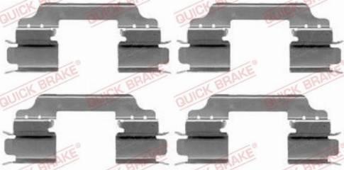 OJD Quick Brake 109-1649 - Комплектующие, колодки дискового тормоза avtokuzovplus.com.ua