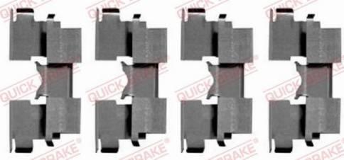 OJD Quick Brake 109-1662 - Комплектующие, колодки дискового тормоза avtokuzovplus.com.ua
