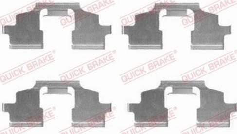 OJD Quick Brake 1091675 - Комплектующие, колодки дискового тормоза avtokuzovplus.com.ua