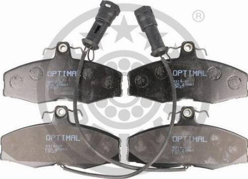 Optimal BP-09319 - Комплект тормозных колодок, дисковый тормоз autodnr.net