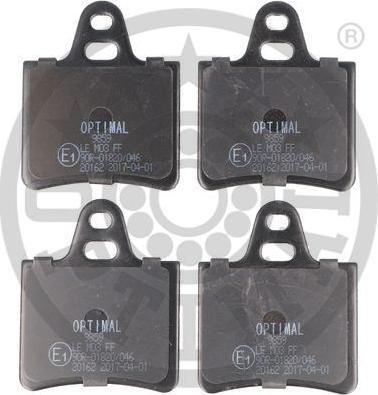 Optimal BP-09859 - Комплект тормозных колодок, дисковый тормоз autodnr.net