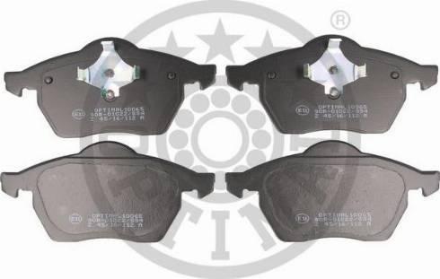 Optimal BP-10065 - Комплект тормозных колодок, дисковый тормоз autodnr.net