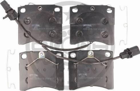 Optimal BP-10482 - Комплект тормозных колодок, дисковый тормоз autodnr.net