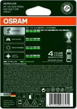 Osram 64210ULT-01B - Лампа накаливания, фара дневного освещения autodnr.net