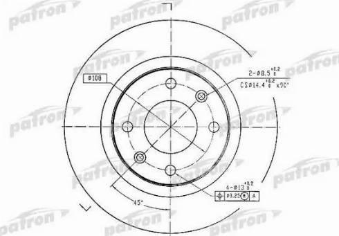 Patron PBD1220 - Тормозной диск autodnr.net