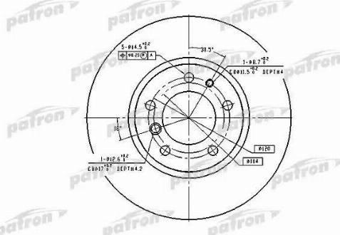 Patron PBD2555 - Тормозной диск autodnr.net