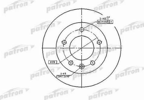 Patron PBD2790 - Тормозной диск autodnr.net