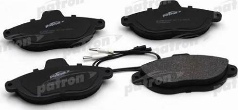 Patron PBP1002 - Комплект тормозных колодок, дисковый тормоз autodnr.net