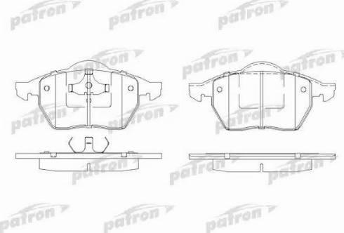 Patron PBP1055 - Комплект тормозных колодок, дисковый тормоз autodnr.net