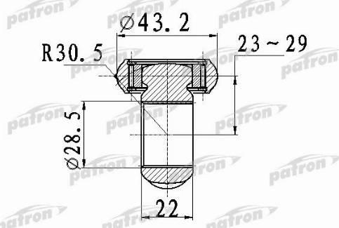 Patron PTD007 - Муфта с шипами, приводной вал car-mod.com