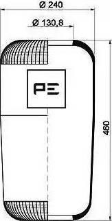 PE Automotive 084.076-70A - Кожух пневматической рессоры car-mod.com