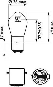 PHILIPS 12728BW - Лампа накаливания, фара дальнего света car-mod.com