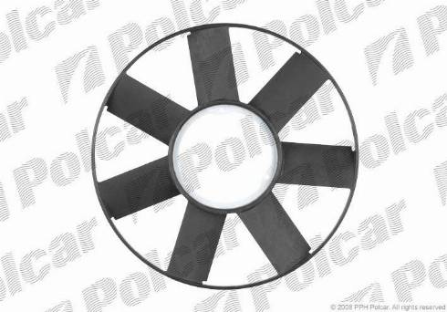 Polcar 200023F6 - Крыльчатка вентилятора, охлаждение двигателя car-mod.com
