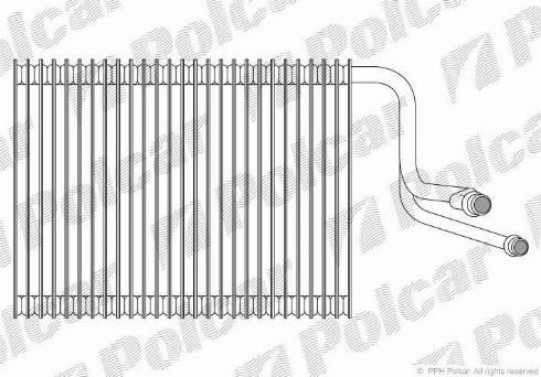 Polcar 2001P81 - Испаритель, кондиционер car-mod.com