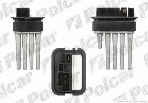 Polcar 5508KST4 - Блок управления, отопление / вентиляция avtokuzovplus.com.ua