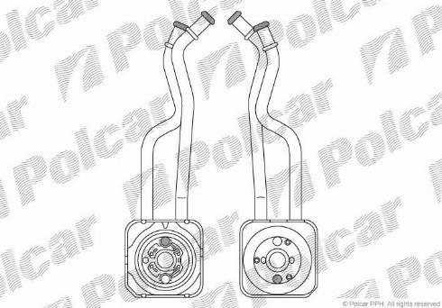 Polcar 9541L82 - Масляный радиатор, ступенчатая коробка передач avtokuzovplus.com.ua