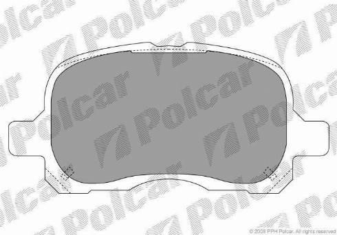 Polcar PC1302S - Тормозные колодки, дисковые car-mod.com