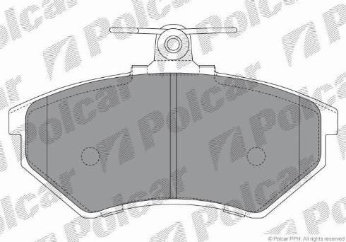 Polcar S70-0005 - Тормозные колодки, дисковые car-mod.com