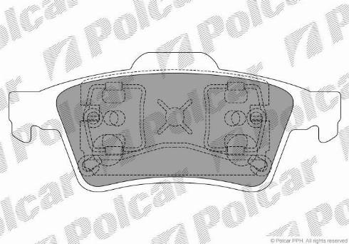 Polcar S70-2025 - Тормозные колодки, дисковые car-mod.com