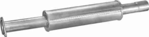 Polmo 01.85 - Средний глушитель выхлопных газов autodnr.net