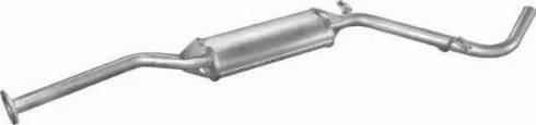 Polmo 2407 - Средний глушитель выхлопных газов car-mod.com
