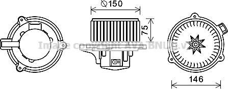 Prasco KA8241 - Электродвигатель, вентиляция салона car-mod.com