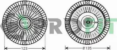 Profit 1720-1012 - Сцепление, вентилятор радиатора autodnr.net