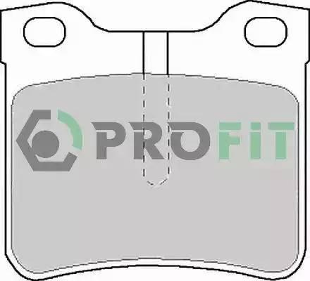 Profit 5000-1044 C - Комплект тормозных колодок, дисковый тормоз autodnr.net