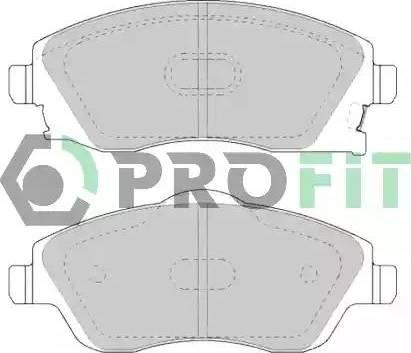 Profit 5000-1424 - Комплект тормозных колодок, дисковый тормоз autodnr.net