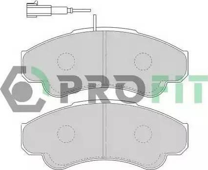 Profit 5000-1479 - Комплект тормозных колодок, дисковый тормоз autodnr.net