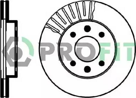 Profit 5010-0158 - Тормозной диск autodnr.net