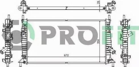 Profit PR2563A1 - Радиатор, охлаждение двигателя autodnr.net