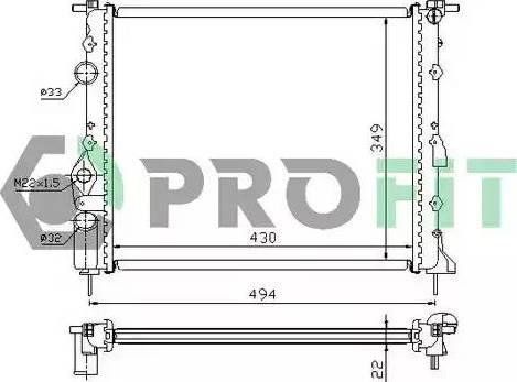 Profit PR6042A1 - Радиатор, охлаждение двигателя autodnr.net