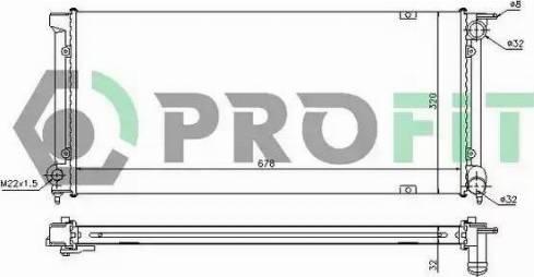 Profit PR9521A1 - Радиатор, охлаждение двигателя autodnr.net