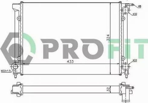 Profit PR9521A2 - Радиатор, охлаждение двигателя autodnr.net