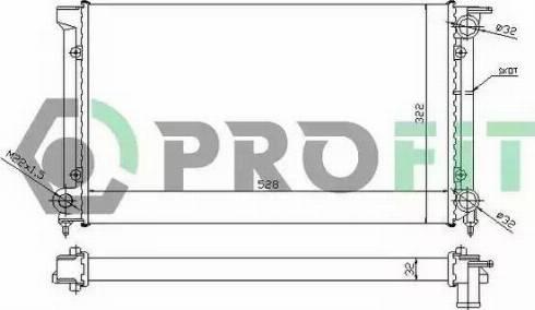 Profit PR9521A3 - Радиатор, охлаждение двигателя autodnr.net