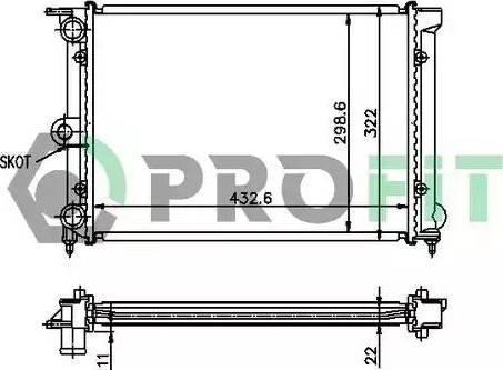 Profit PR9521A4 - Радиатор, охлаждение двигателя autodnr.net
