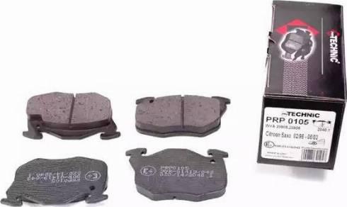 Protechnic PRP0105 - Комплект тормозных колодок, дисковый тормоз autodnr.net