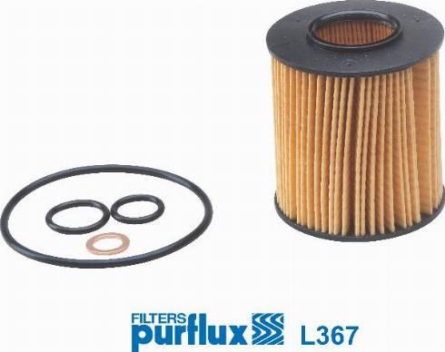 Purflux L367 - Масляний фільтр autocars.com.ua