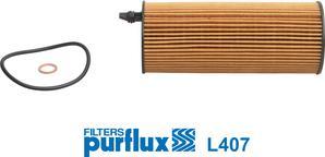 Purflux L407 - Масляний фільтр autocars.com.ua