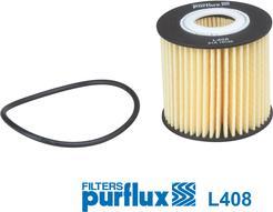 Purflux L408 - Масляний фільтр autocars.com.ua