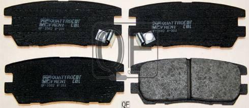 Quattro Freni QF58202 - Комплект тормозных колодок, дисковый тормоз autodnr.net