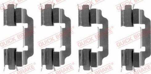 QUICK BRAKE 1091601 - Комплектующие, колодки дискового тормоза autodnr.net