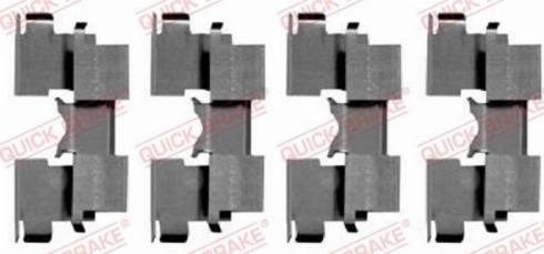 QUICK BRAKE 1091662 - Комплектующие, колодки дискового тормоза avtokuzovplus.com.ua