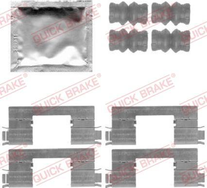 QUICK BRAKE 1091798 - Комплектующие, колодки дискового тормоза avtokuzovplus.com.ua