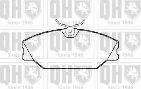 Quinton Hazell BP1228 - Тормозные колодки, дисковые car-mod.com
