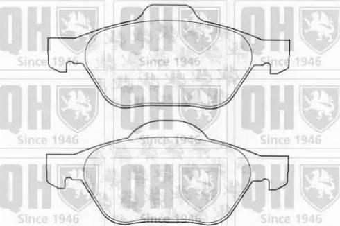 Quinton Hazell BP1319 - Тормозные колодки, дисковые car-mod.com