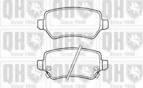 Quinton Hazell BP1365 - Тормозные колодки, дисковые car-mod.com
