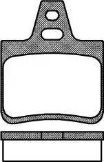 Remsa 0102.10 - Комплект тормозных колодок, дисковый тормоз autodnr.net