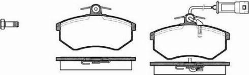 Remsa 0134.02 - Комплект тормозных колодок, дисковый тормоз autodnr.net